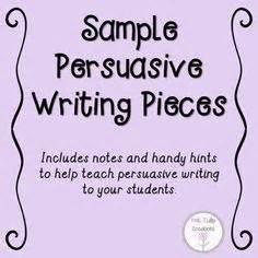 Lesson plan writing a persuasive essay